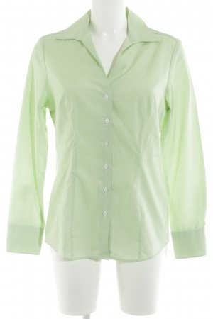 Hemd-Bluse hellgrün-weiß Karomuster Business-Look