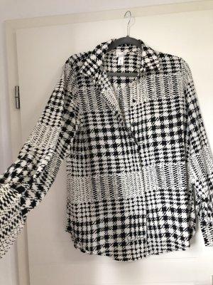 H&M Camicetta lunga nero-bianco