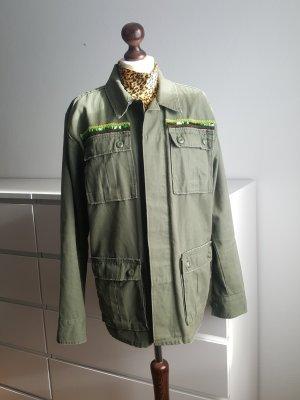 Hemd Bluse khaki Military Style