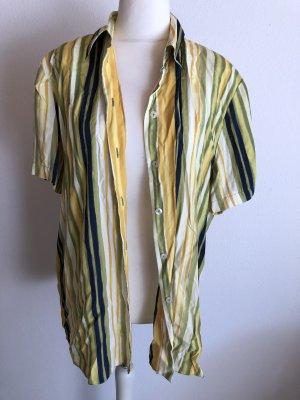 Hemd Bluse Kurzarmbluse mit Kragen oversized locker Vintage Gr. 44