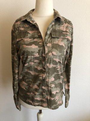 Hemd Bluse Langarm Army Camouflage Gr. 38