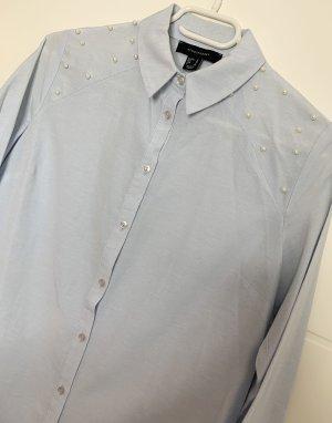 Hemd-Bluse mit Perlen