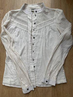 Hemd Bluse mit Spitze beige von Object