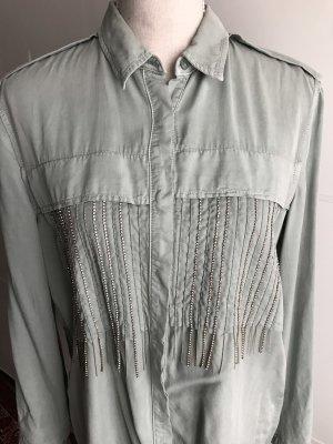 Hemd/Bluse mit Steinen von Zara