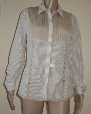 Alba Moda Camicia blusa bianco-beige