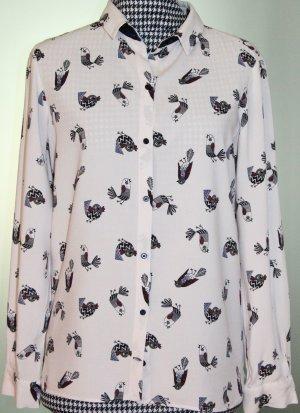 Hemd Bluse mit Vogelmotiv von Zara Gr. XS