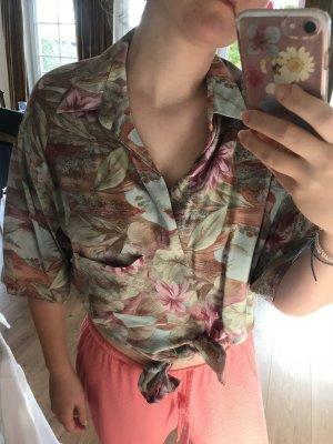 Hemd Bluse Muster Blumen Blätter