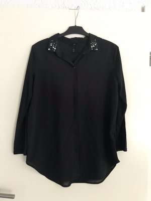 Hemd -Bluse schwarz mit Accessoiresaplikationen