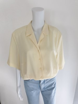 Hemd Bluse Strickjacke Oversize Cardigan Pullover mantel True Vintage jacke blazer 46 gelb