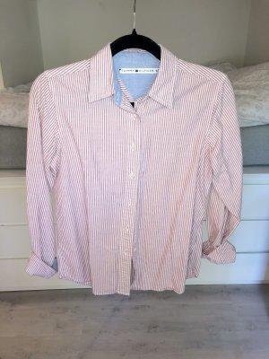Hemd Bluse Tommy Hilfiger gestreift rot weiß rosa maritim S