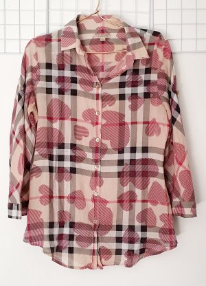 Burberry Brit Geruite blouse veelkleurig Katoen