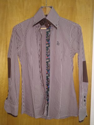 Blusa de cuello alto multicolor