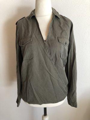 Le Temps des Cerises Camicia blusa cachi-grigio-verde