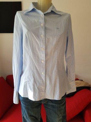 Hemd-Bluse weiss/blau gestreift