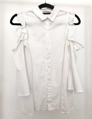 Lindsay Moda Cols de blouses blanc tissu mixte