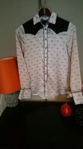 Hemd Bluse Zara schmale S (XS 34/36) Reitermotiv Pferdemotiv Western Style
