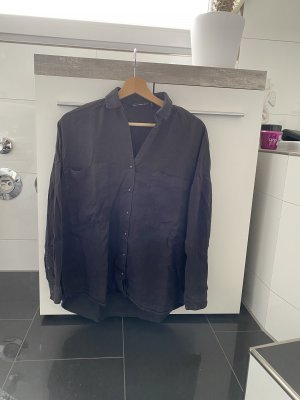 Zara Jeansowa koszula czarny