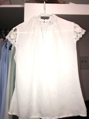 unbekannte Camisa de manga corta blanco