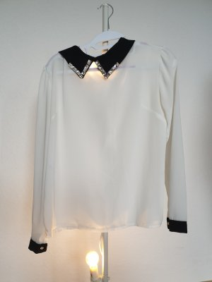 Butik Long Sleeve Shirt white-black