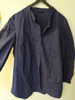 COS Camisa de manga larga azul oscuro Algodón