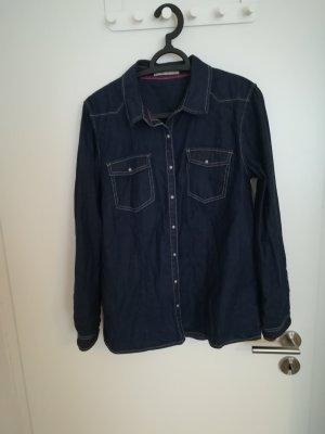 Cache & Cache Denim Shirt dark blue