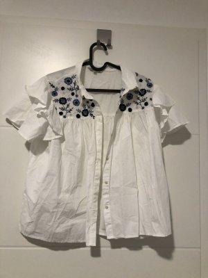 Chemise à manches courtes blanc
