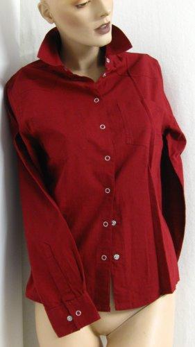 Arizona Chemise à manches longues rouge carmin-bordeau coton