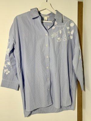 H&M Chemise hawaïenne bleu azur-blanc
