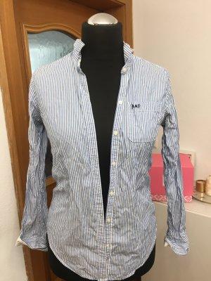 Abercrombie & Fitch Chemise à manches longues blanc-bleu