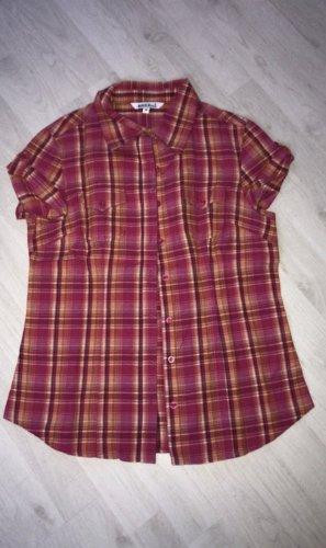 Camisa de manga corta rojo-naranja claro