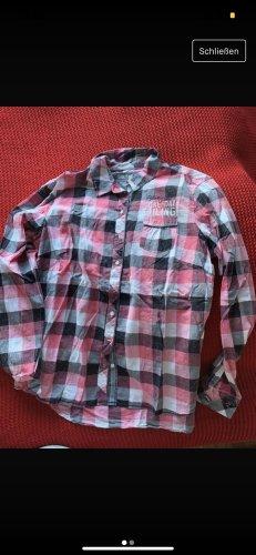 Soccx Camicia blusa rosa-bianco