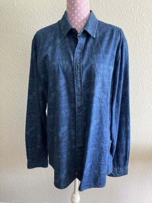 edc by Esprit Chemise en jean bleu fluo coton