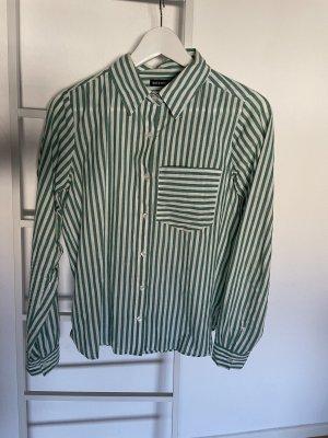 Rut & Circle Long Sleeve Shirt white-lime-green