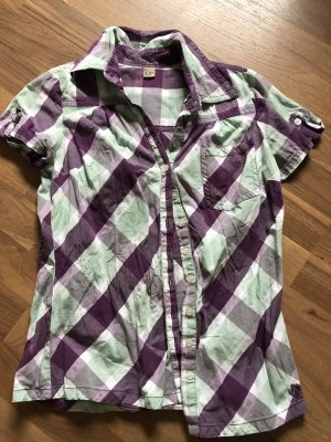 AJC Short Sleeve Shirt dark violet-lime-green