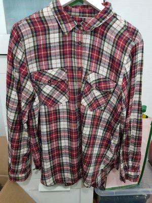 Gina Tricot Flannel Shirt white-carmine