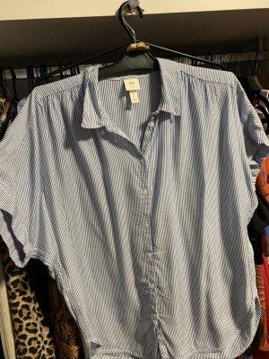 H&M Shirt met korte mouwen wit-neon blauw