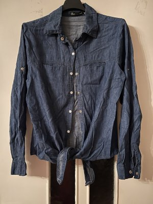 Shirt Blouse steel blue-cornflower blue