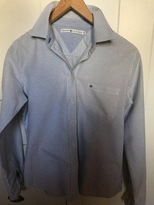 Tommy Hilfiger Cols de blouses bleu clair coton