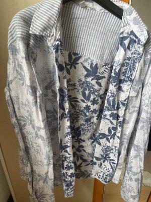 Mavi Camicia a maniche lunghe bianco-blu acciaio
