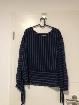 Mango Long Sleeve Shirt black-blue
