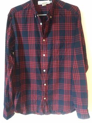 H&M Houthakkershemd baksteenrood-donkerblauw
