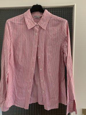 Basic Line Long Sleeve Shirt raspberry-red-white