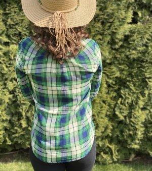 Hemd Grün-Karo-Muster