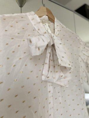 H&M Camicia a maniche corte bianco-giallo-oro