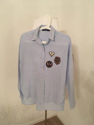Hemd hellblau mit Badge von Zara