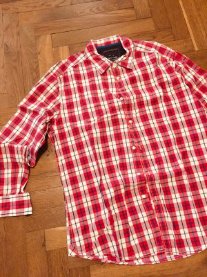 Hemd Hemdbluse Karo rot weiss Gr. M Gr. 38 oversized H&M Zara COS Mango Asos Holzfälleroptik Vintage