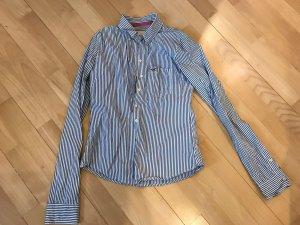 Hollister Camicia a maniche lunghe bianco-blu scuro