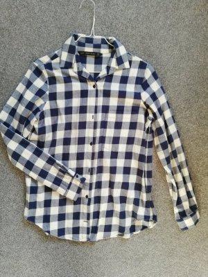 Zara Basic Lumberjack Shirt cream-blue