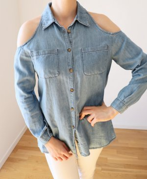 Asos Denim Shirt azure cotton