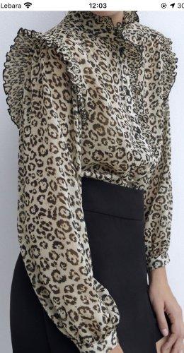 Hemd in Animalprint von Zara